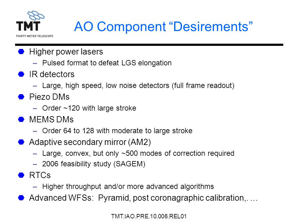 AO Component Desirements