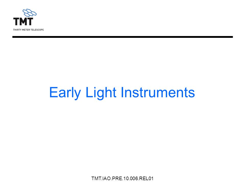 Early Light Instruments