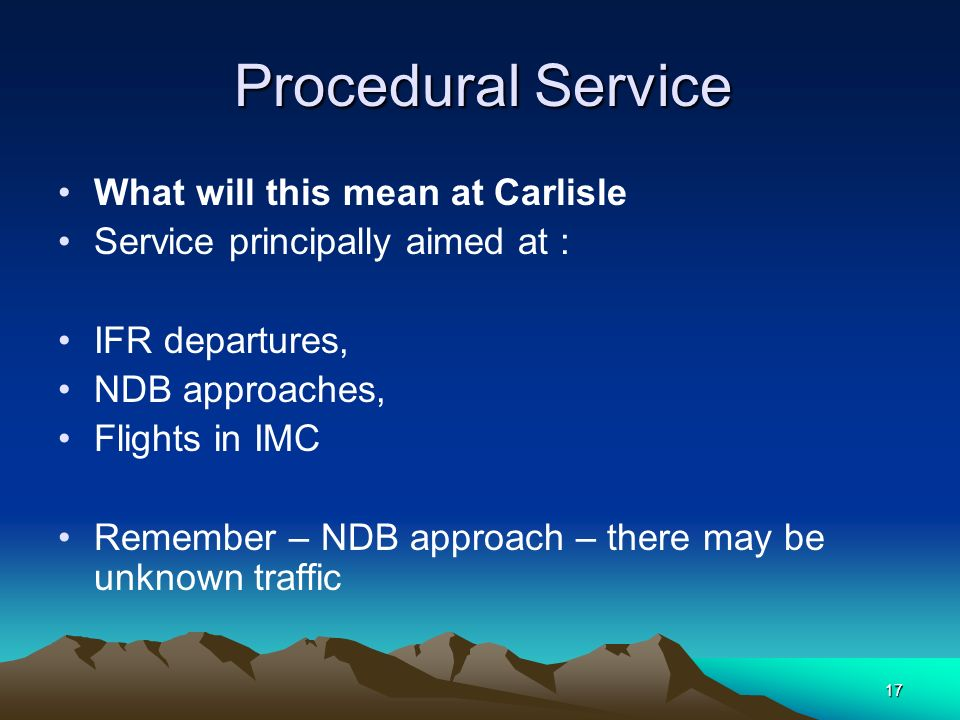 What will this mean at Carlisle Service principally aimed at :