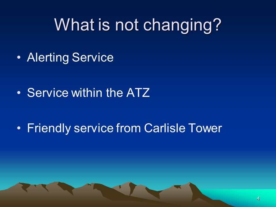 What is not changing Alerting Service Service within the ATZ