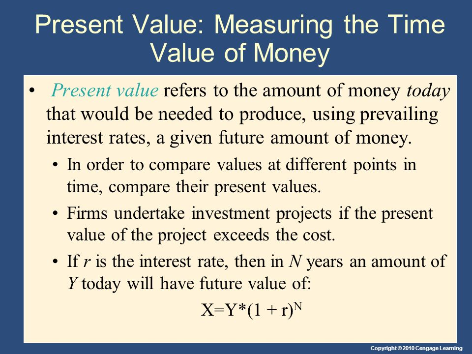 Present Value: Measuring the Time Value of Money