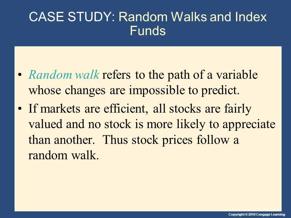 CASE STUDY: Random Walks and Index Funds