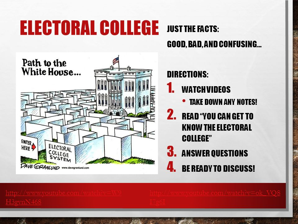 Electoral College Just the Facts: Good, bad, and confusing…