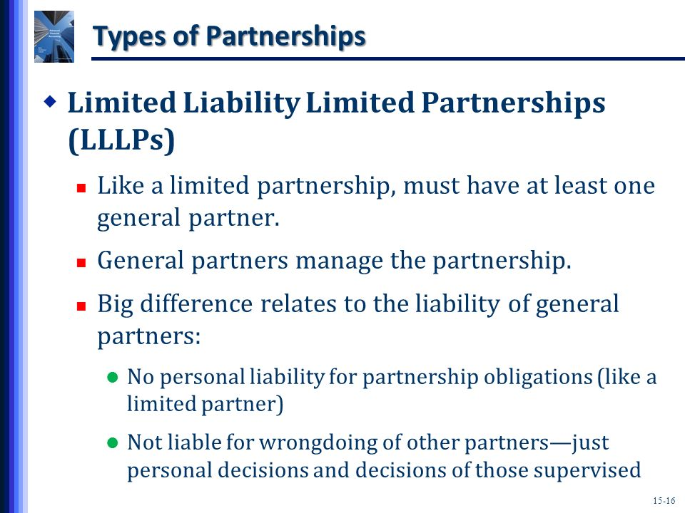 Limited Liability Limited Partnerships (LLLPs)