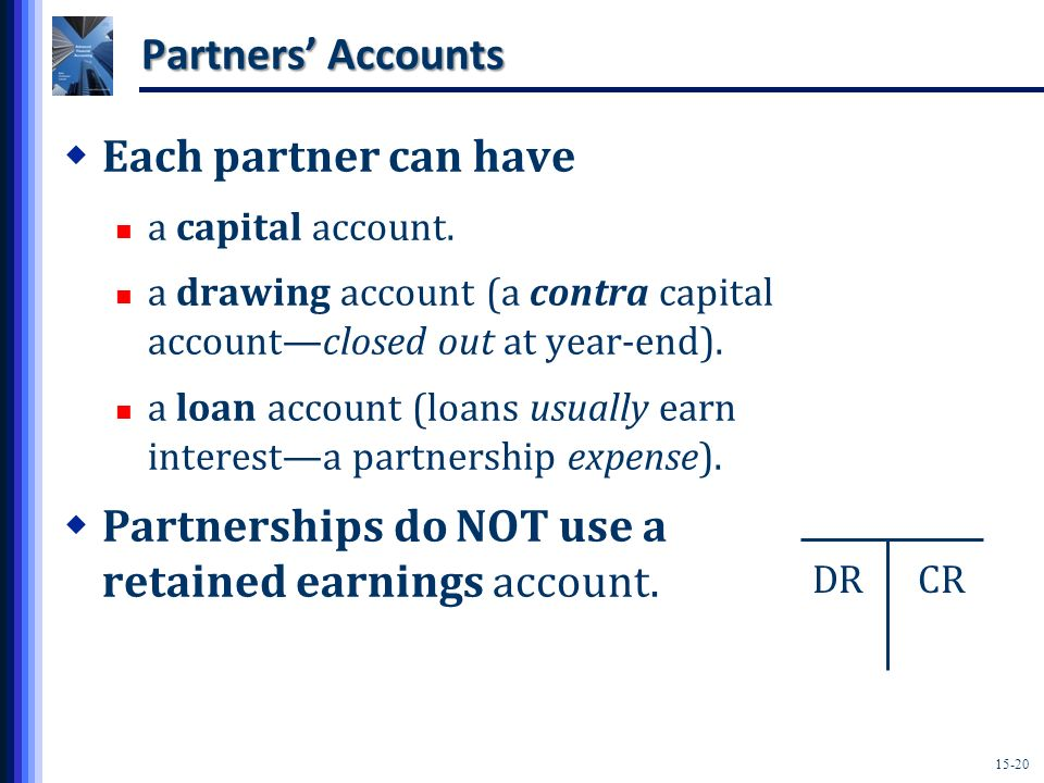 Partnerships do NOT use a retained earnings account.