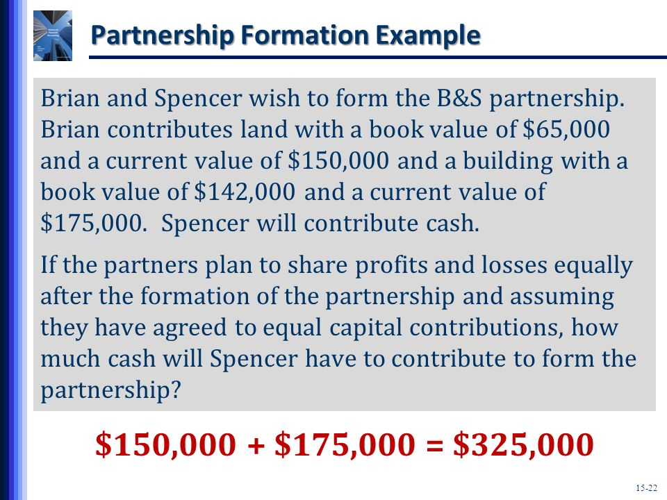 Partnership Formation Example
