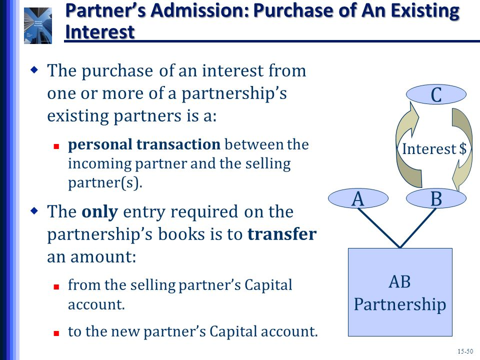 Partner's Admission: Purchase of An Existing Interest