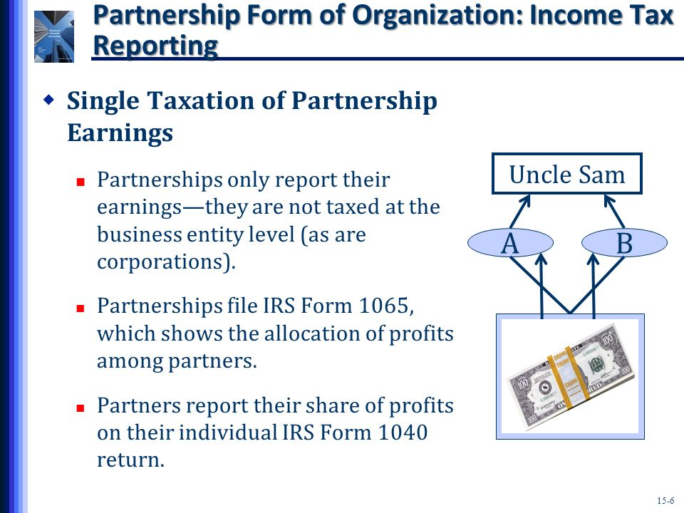 Partnership Form of Organization: Income Tax Reporting
