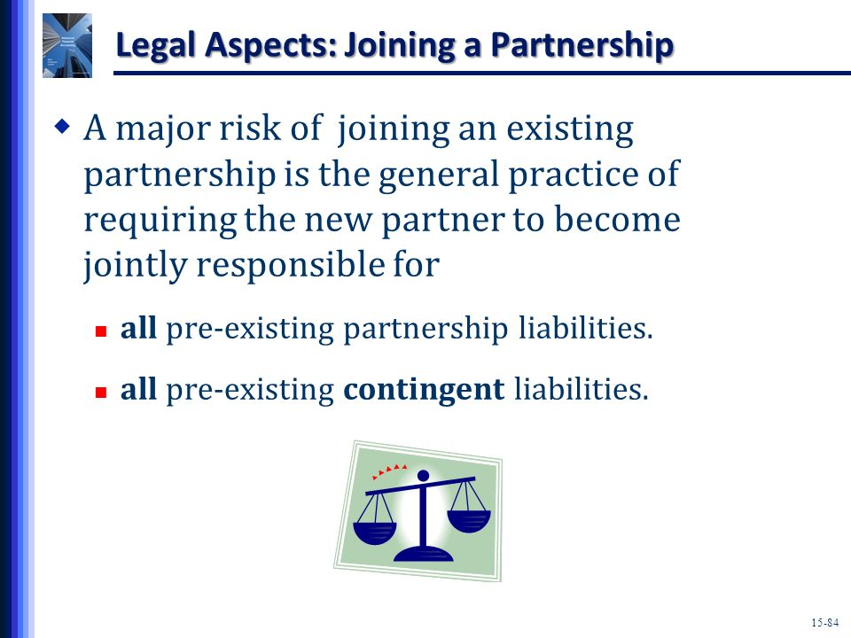 Legal Aspects: Joining a Partnership