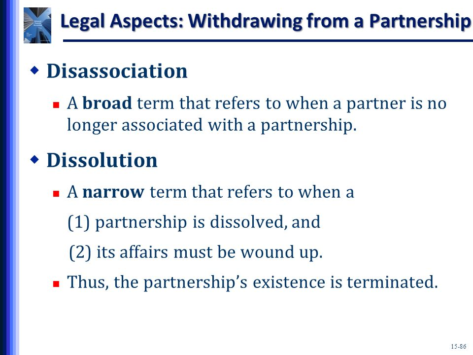 Legal Aspects: Withdrawing from a Partnership