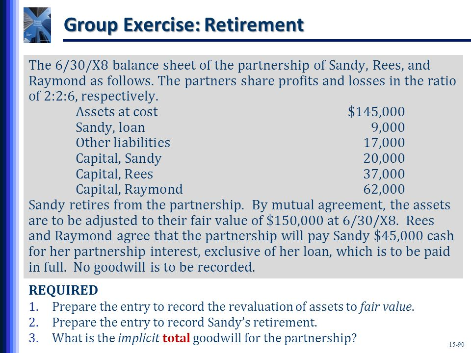 Group Exercise: Retirement
