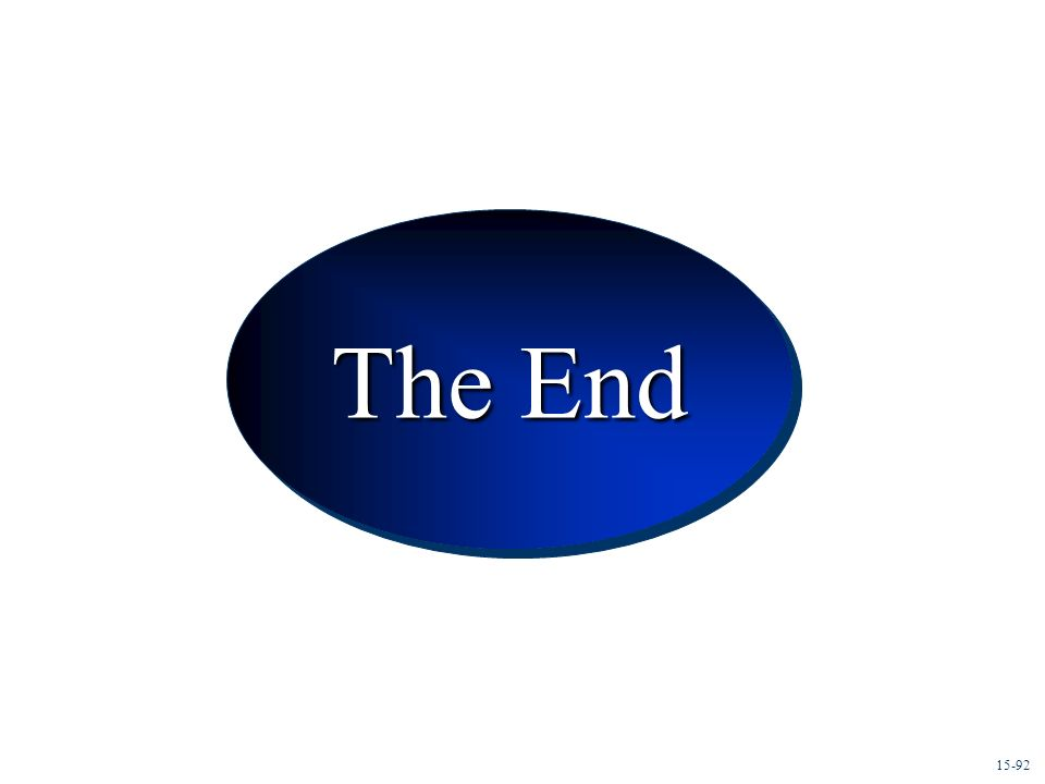 Conclusion The End 15-92