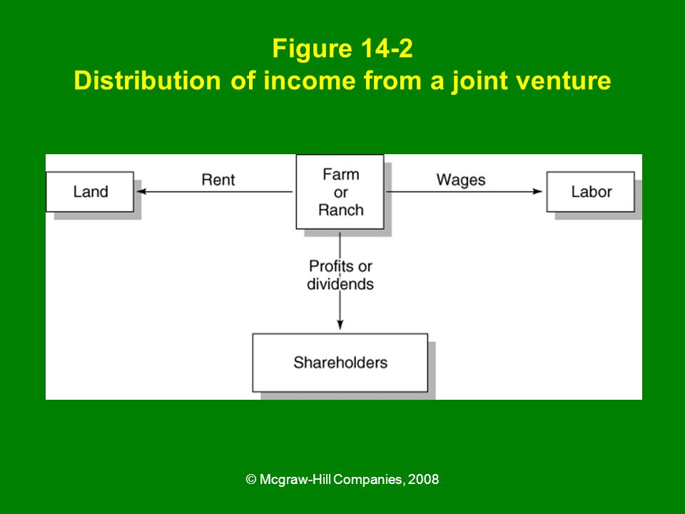 Figure 14-2 Distribution of income from a joint venture
