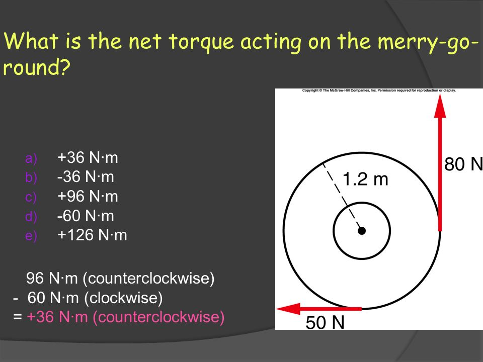 What is the net torque acting on the merry-go-round