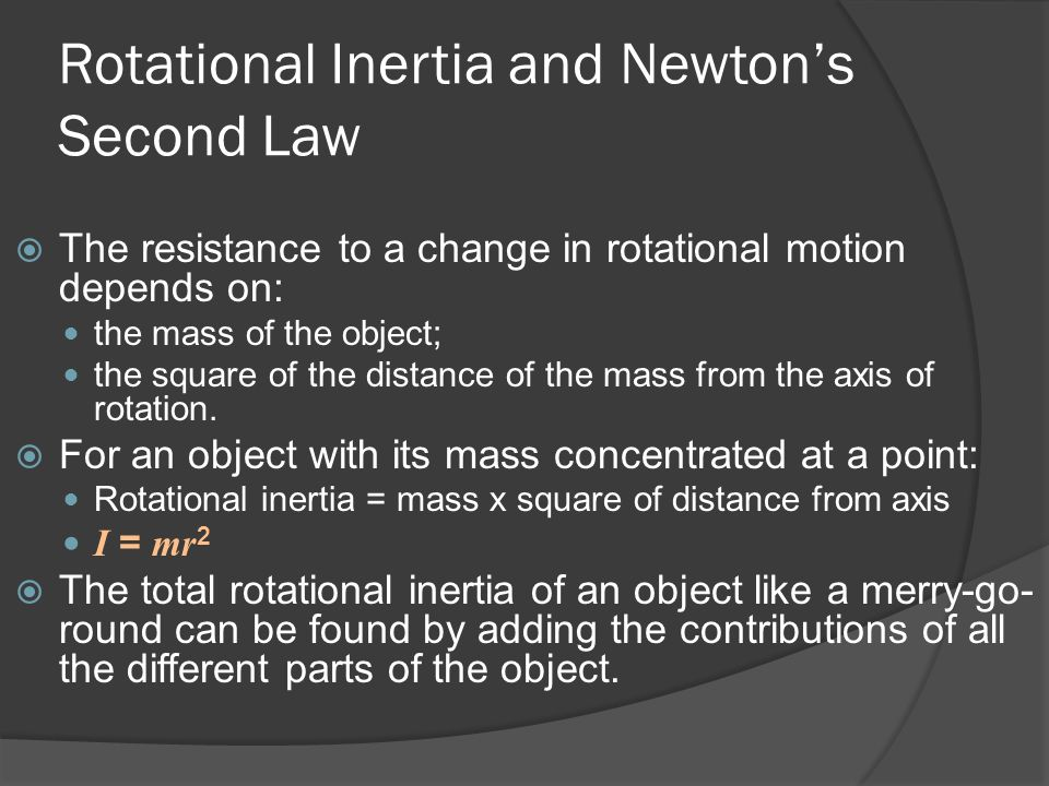 Rotational Inertia and Newton's Second Law