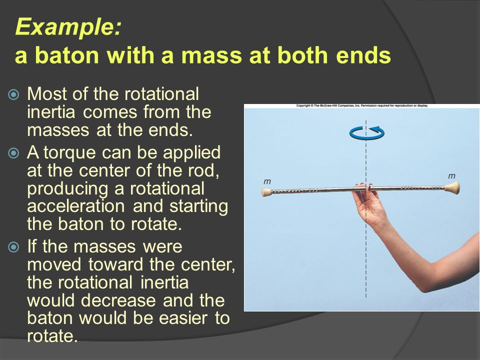 Example: a baton with a mass at both ends
