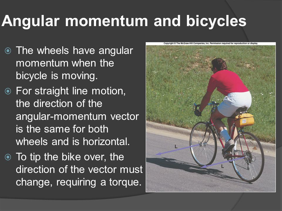 Angular momentum and bicycles