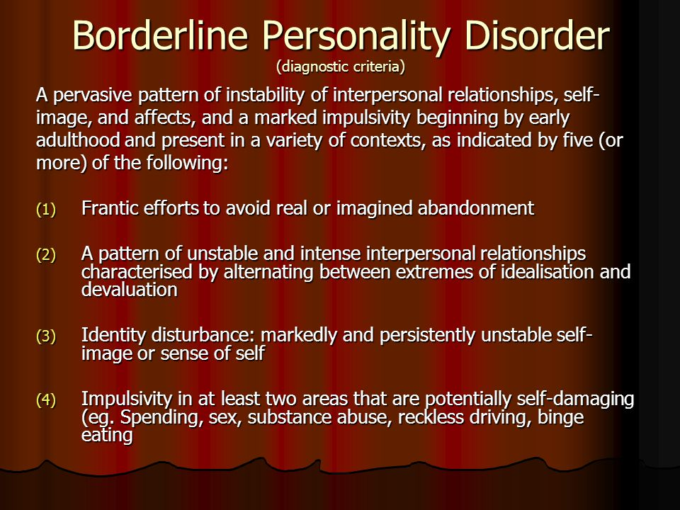 Personailty Disorders Ppt Video Online Download Adorable Borderline Personality Relationship Pattern