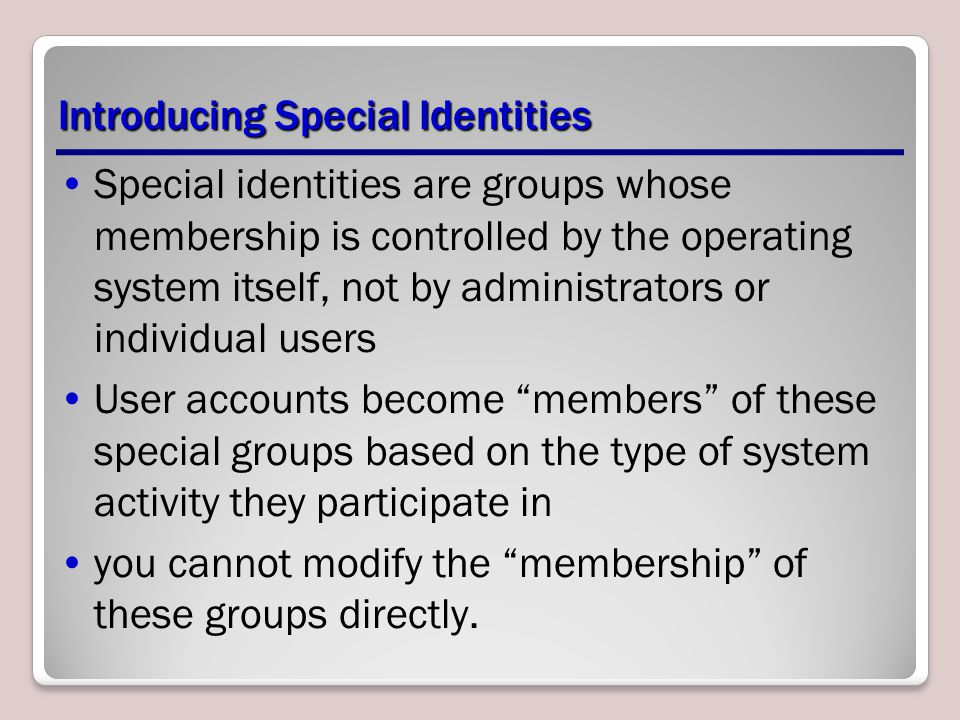 Introducing Special Identities