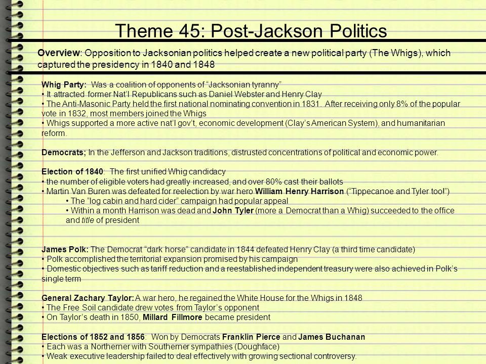 Apush Review Age Of Jackson An Era Of Reform National Growth Ppt