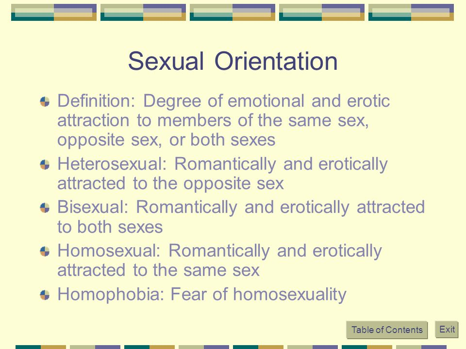 Homosexual orientation means