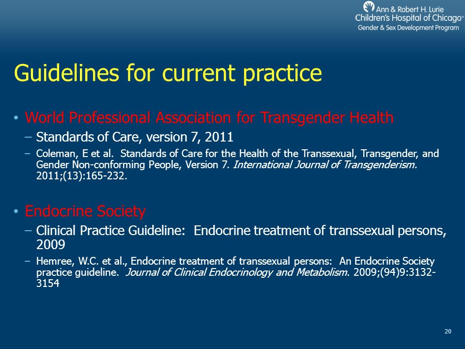 Endo society guidelines transsexual