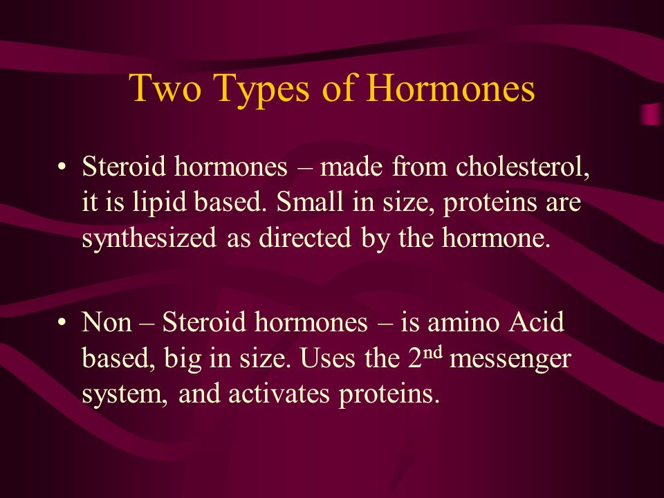 Two Types of Hormones