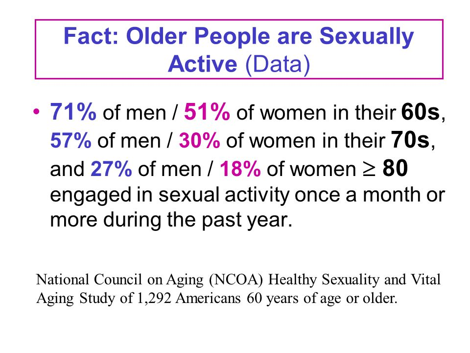 Aging council national sex survey