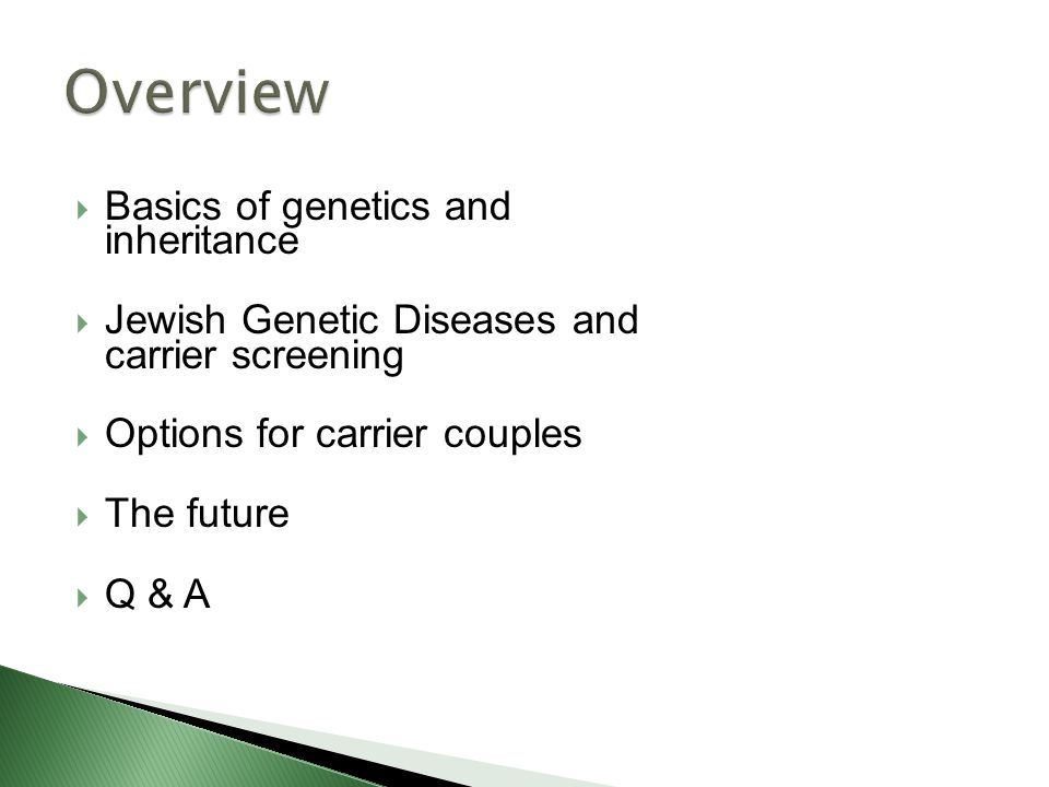 Jewish Genetic Health And A Glimpse Into The Future Ppt Video