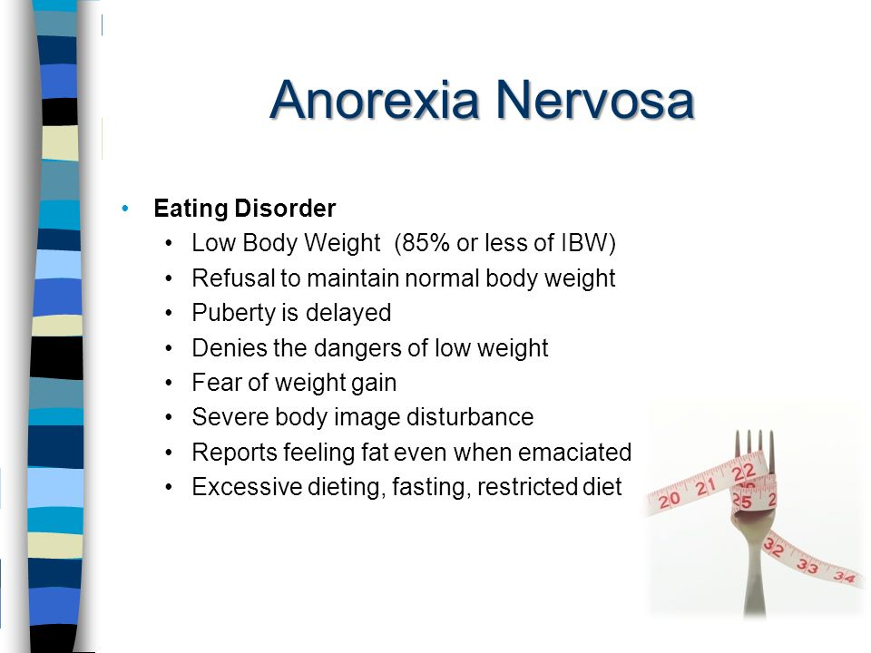 dangers of an eating disorder