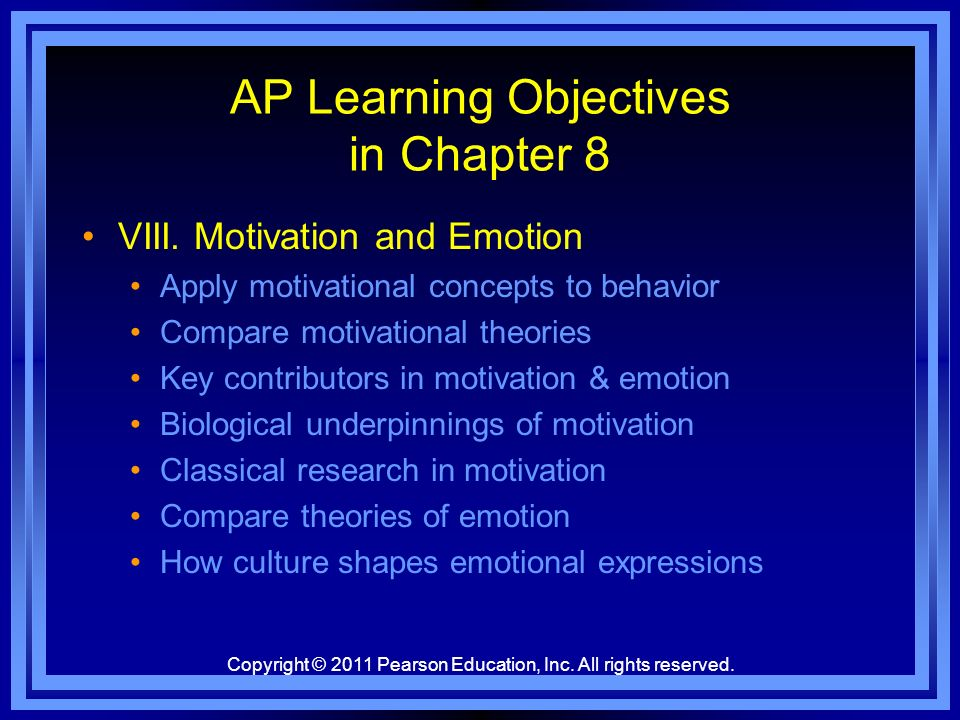 AP Learning Objectives in Chapter 8