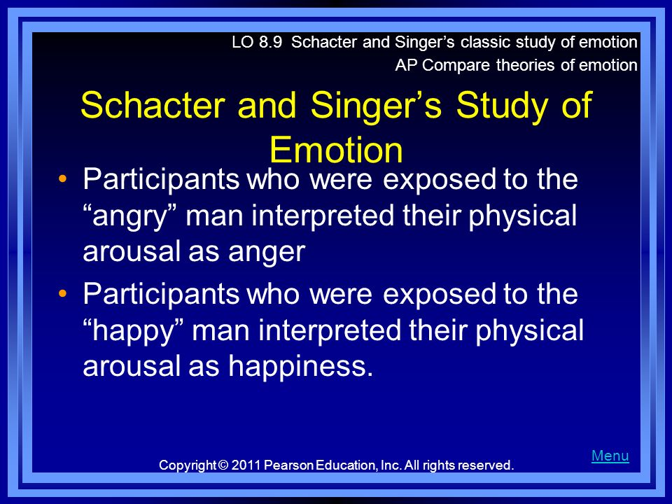 Schacter and Singer's Study of Emotion