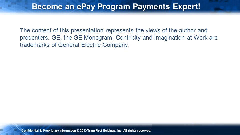 Become an ePay Program Payments Expert!