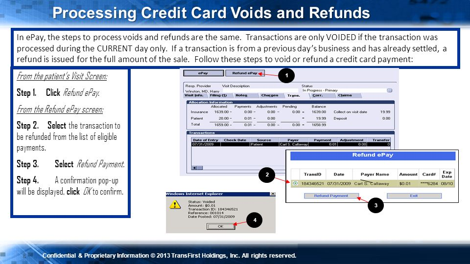 Processing Credit Card Voids and Refunds