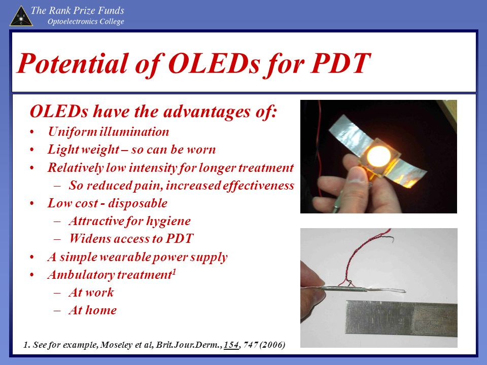 Potential of OLEDs for PDT