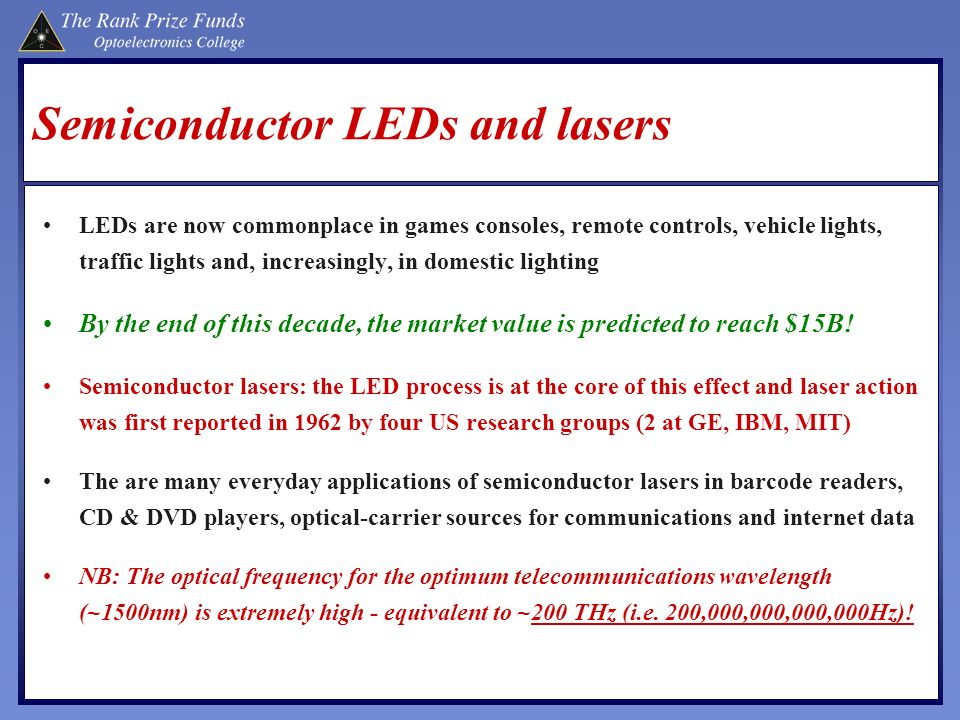 Semiconductor LEDs and lasers