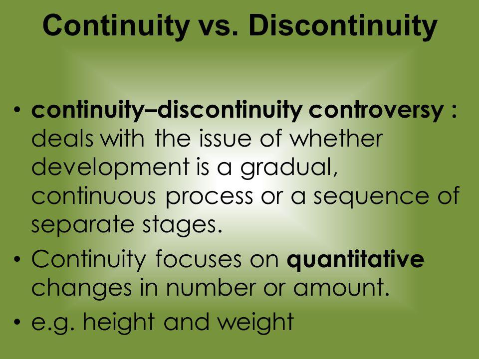 continuity vs discontinuity child development