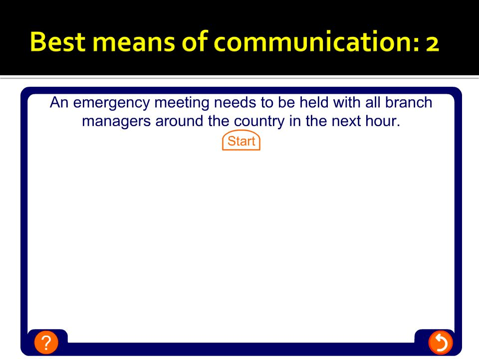Best means of communication: 2