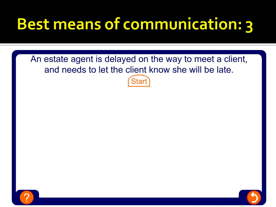 Best means of communication: 3