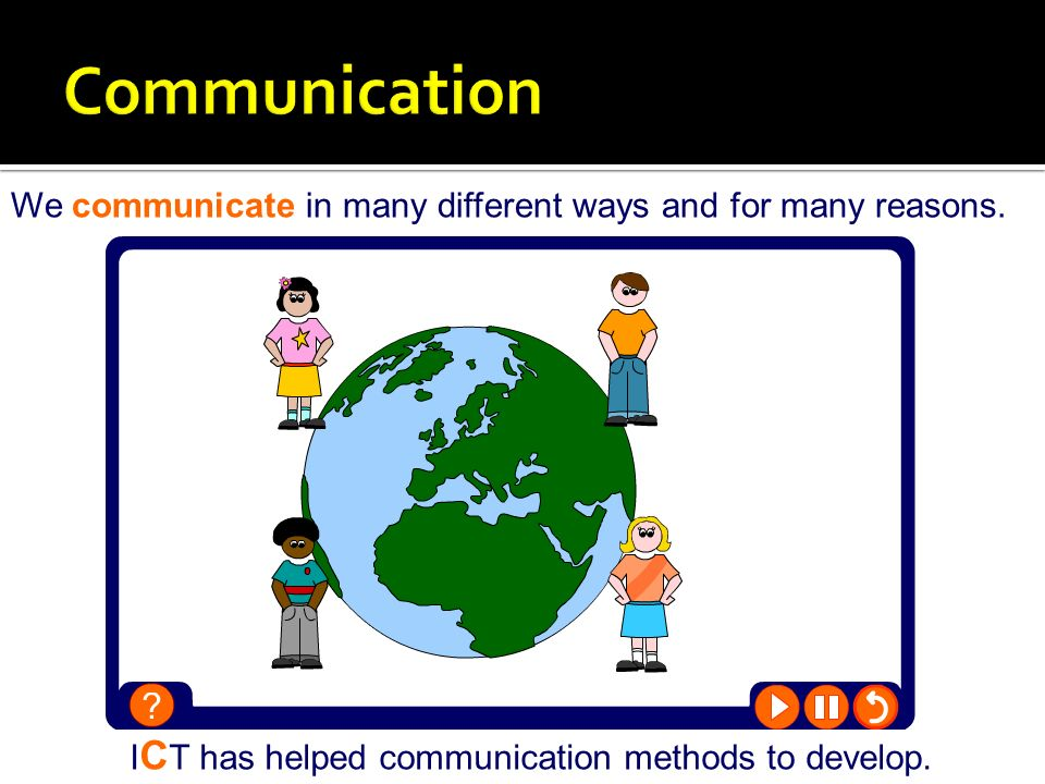 Communication We communicate in many different ways and for many reasons.