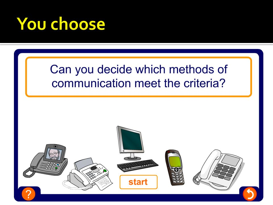 You choose Technology changes quickly and you may find you disagree with the correct answers given.