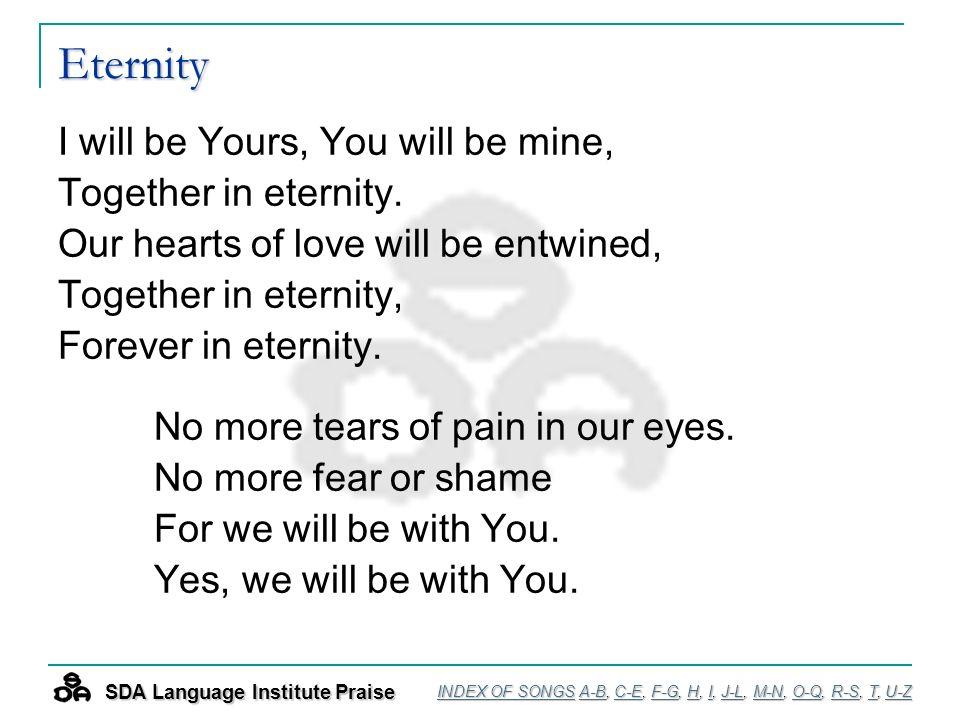 PRAISE & WORSHIP! Language Institute INDEX OF SONGS  - ppt