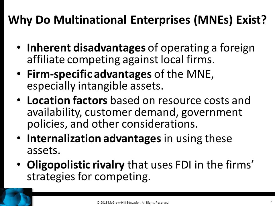 multinational advantages and disadvantages