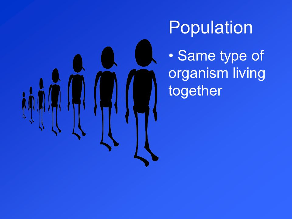 Population Same type of organism living together