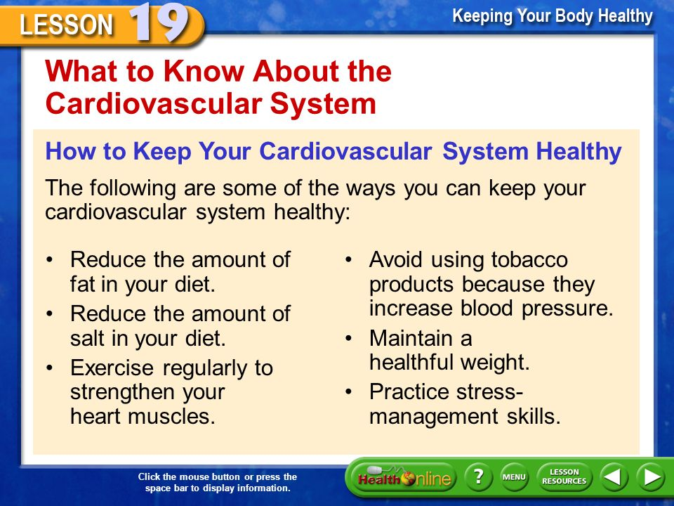 What Youll Learn 1 Examine Behaviors To Keep Your Cardiovascular
