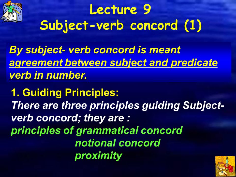 Lecture 9 Subject Verb Concord 1 Ppt Video Online Download