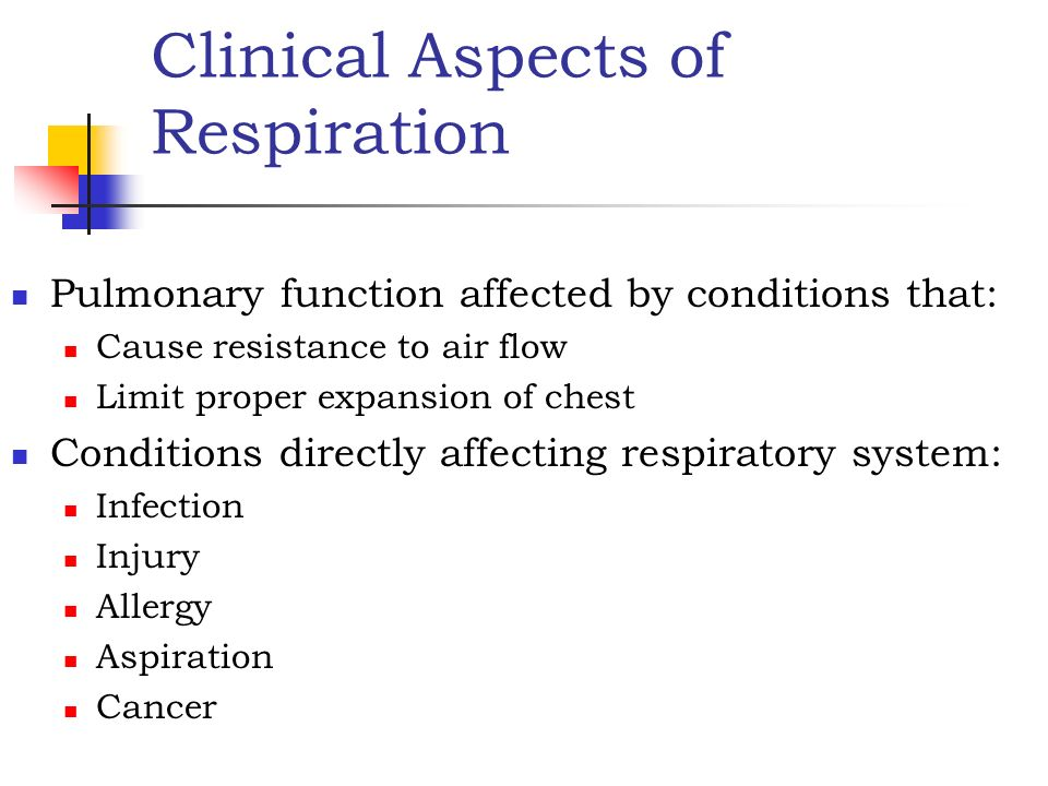 Clinical Aspects of Respiration