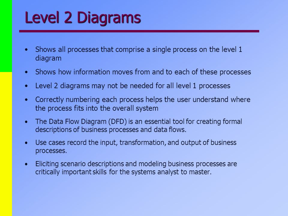 level 1 process flow diagram information systems system analysis 421 class seven ppt video  information systems system analysis 421
