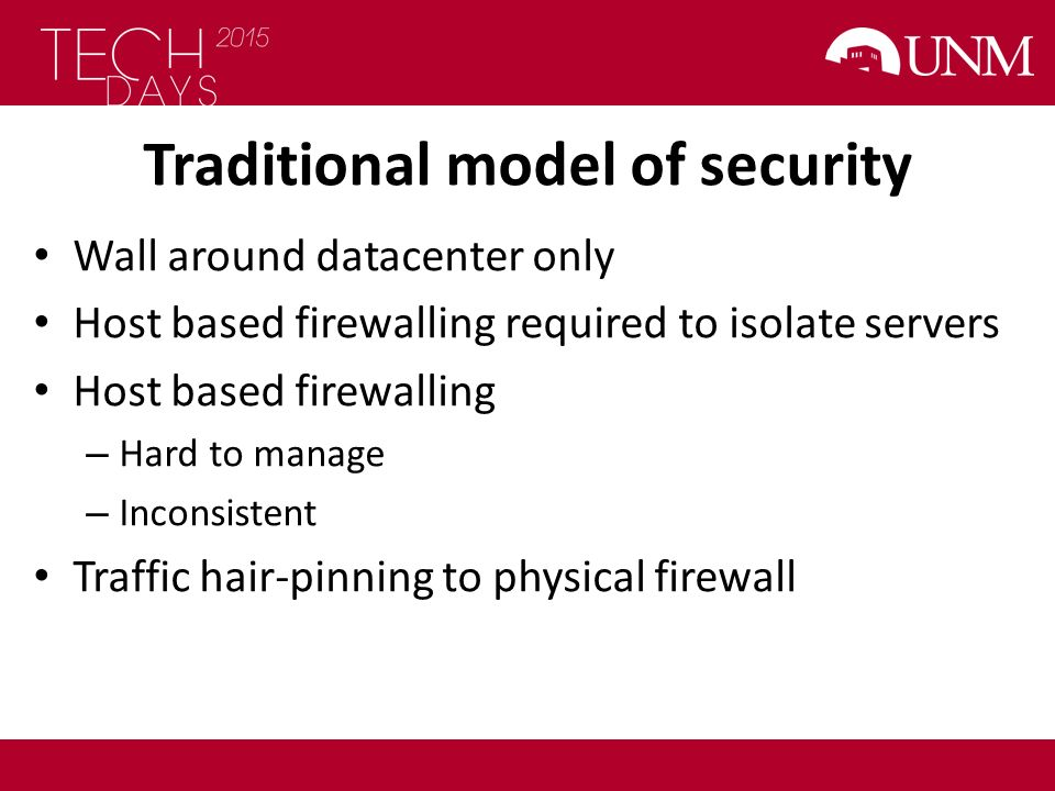 Traditional model of security
