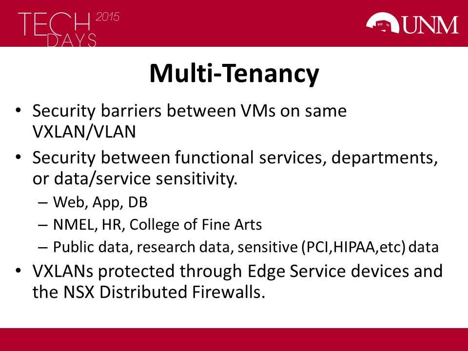 Multi-Tenancy Security barriers between VMs on same VXLAN/VLAN